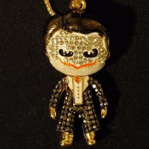 Betsey Johnson Jewelry - Betsey Johnson Mini Joker Figure Necklace
